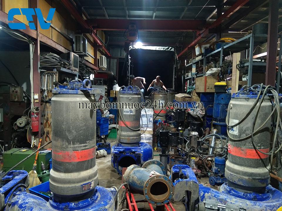 Sửa chữa, bảo dưỡng máy bơm chìm nước thải uy tín chuyên nghiệp