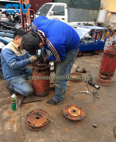Sửa máy bơm nước bị giảm lưu lượng trong quá trình vận hành